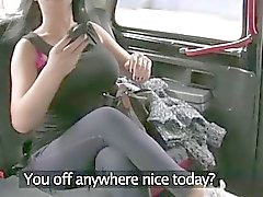 Busty euro chick gets screwed in taxi