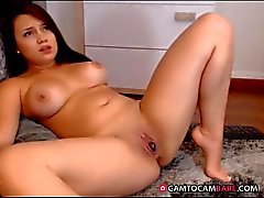 Horny Young Girl Masturbating with Ohmibod Dildo