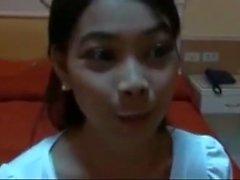Sweet Young Pinay Filipina fucks big cock