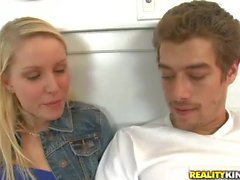 Teen blonde Kiara Diane gives a helping hand