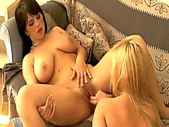 Hot czech lesbian fingering and toying each other's ass and pussy