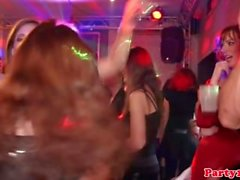 Euro party teens sucking dicks in nightrclub