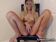 Horny Blonde Teen Fingering