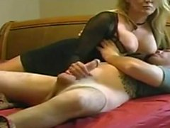 Naughty stepmother on spy camera
