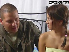 Shaved cutie virgin Kristina Shaffer