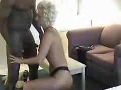 Teen girl enjoys the black cock