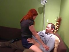 Redhead step daughter gets fucked