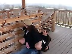 Young Lovers Fuck Outdoors In Public
