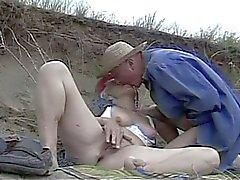 Horny granny fucking a hard cock