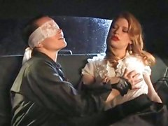 Madison Young enjoys some titilation in the back of a cab with her lezbo pal