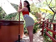 Hot ass whore Gracie Glam banged by huge cock outdoors