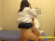 Hamono Tomoka Extremely Skinny Jav Teen Fucked By Her Doctor With Vibrators