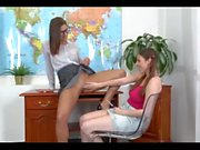 Lesbian teacher seduces student with piss - see more at pissfetishcams