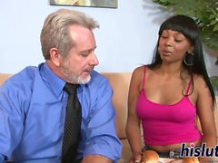 Hot interracial session with a black beauty