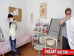 Petite teen Lucianna Karel gyno clinic exam