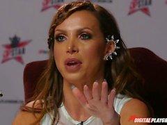 DP Star 3 - Brunette Russian Pornstar Adriana Chechik Deep Throat Blowjob
