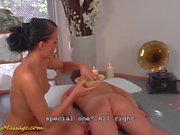 slippery nuru sex for lucky poolboy
