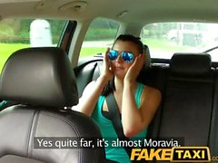 FakeTaxi Sexy teen with big natural tits learns the hard way