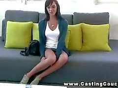Shy teen on the CastingCouchX