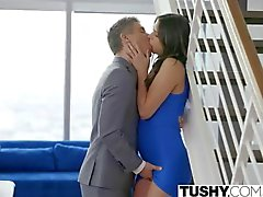 TUSHY Beautiful Natural Brunette Anna Morna Tries Anal