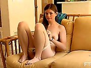 Horny schoolgirl undressing for the camera first time