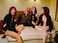 Naughty amateur German Milf group sex action