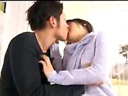 Petite Japanese girl has her boyfriend licking and drilling