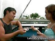 Latin gf night drive backseat sex part1