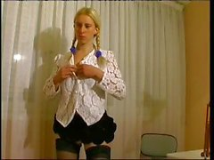 Avalone is a skinny young blonde who gives her tutor some thank you sex