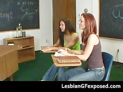 Tasty lesbian cuties strapon games part3