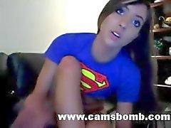 Teen In Upskirt Dildoing On Webcam