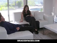 BraceFaced - Cute Braces Teen Covered in Creamy Load