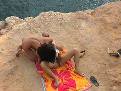 Nataly got anal on the beach of Ibiza