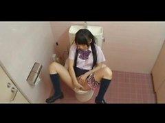 Japanese schoolgirl masturbation