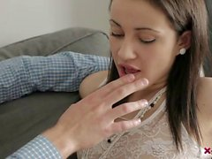 Erotic chick licked and nailed