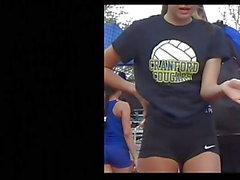 Thin Track Teen Very Tight Spandex Shorts