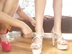 Maryjane Johnson & Cassandra Nix - Young Cheerleader Lesbians