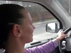 Naive innocent teenager fucked in driving van by horny stranger