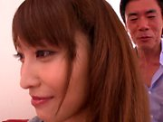 Young japanese babe creampied