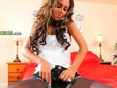 Luxury ultra glamorous black stockings