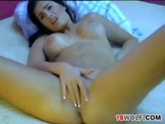 Busty Teen Masturbates With Her Dildo