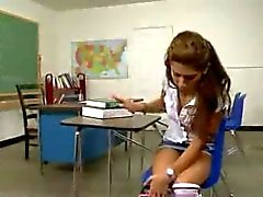 School Girl caught by Janitor
