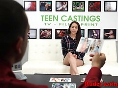 Roughfucked teen at brutal casting