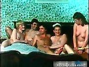 Nasty horny seventies sluts go crazy