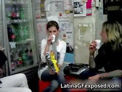 Latin gf getting wild with her horny