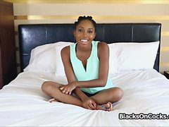 Banging perky black teen beauty