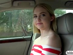 Beautiful teen Chloe Couture gets banged at the back seat