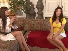 Mature Woman Seduce a Shy Brunette. With AS & TV