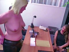 German Teen Couple Fuck by Female Porn Casting