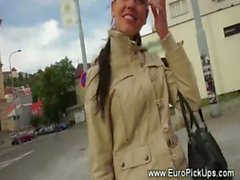 Euro teen amateur picked up on street
